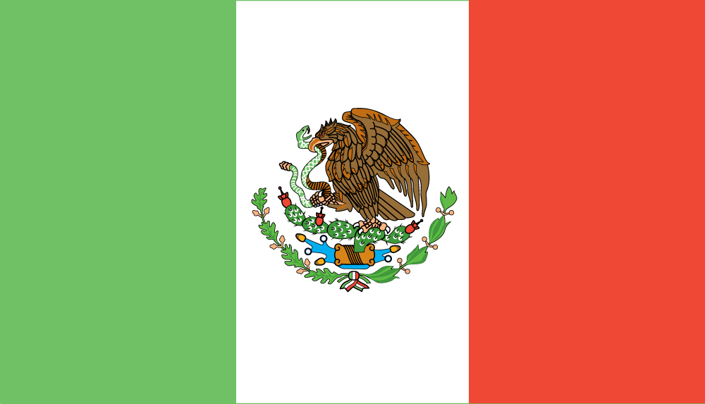 Mexican Flag (Flag of the Mexico)