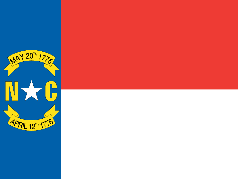 Us North Carolina Flag on American Flag 13 Colonies Coloring Page